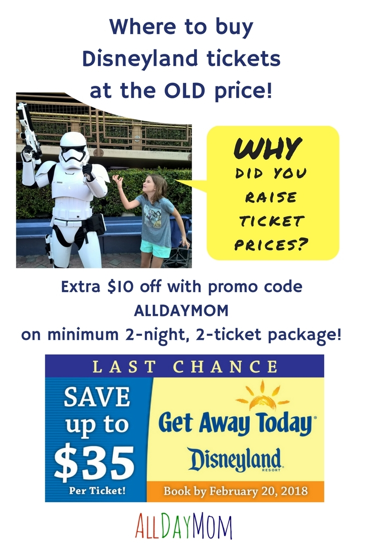 Disneyland tickets coupons