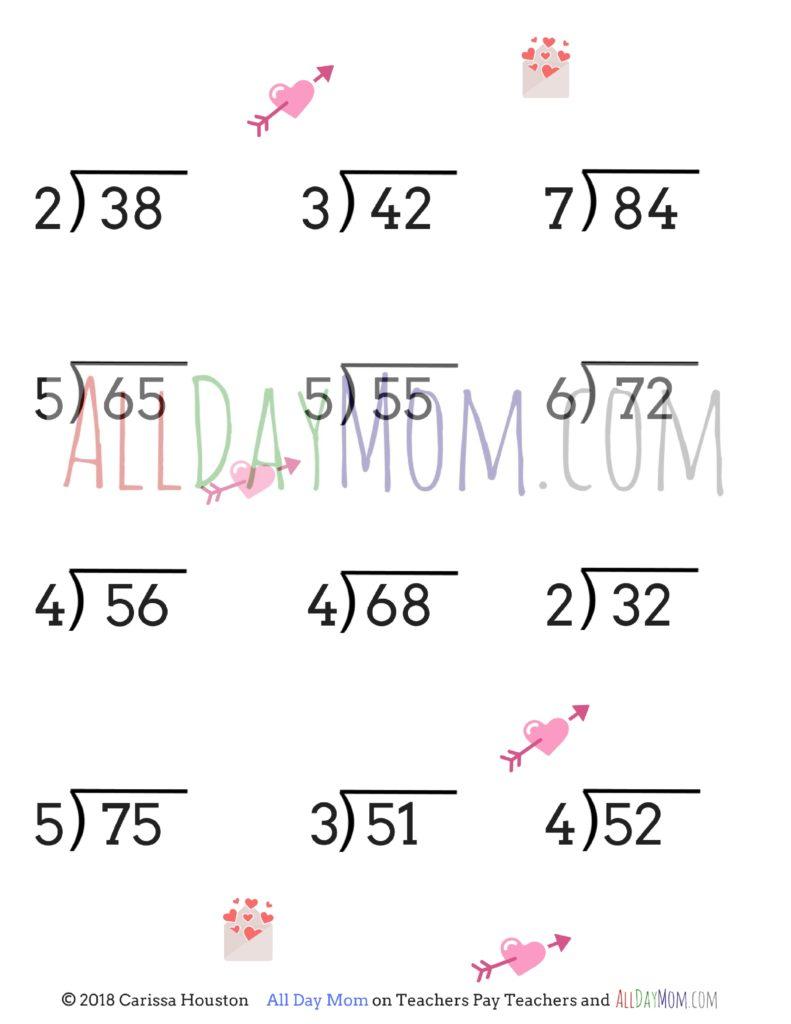 free printable valentine 39 s day math worksheets. Black Bedroom Furniture Sets. Home Design Ideas